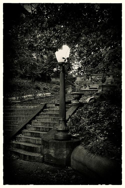 A lightpost at the Spanish Steps, in Kalorama, Washington D.C., near Dupont Circle