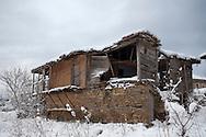 Village of Stoilovo in Strandzha mountain at winter