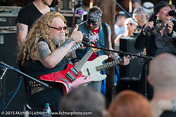 David Allan Coe free concert at the Iron Horse Saloon during Daytona Beach Bike Week. Ormond Beach, FL, USA. Sunday March 8, 2015.  Photography ©2015 Michael Lichter.