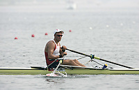 Roing<br /> OL 2008 Beijing<br /> Foto: Dppi/Digitalsport<br /> NORWAY ONLY<br /> <br /> Olaf Tufte of Norway competes in a men's single sculls rowing heat  during the Beijing 2008 Olympic Games at Shunyi Olympic Rowing Park August 9, 2008<br /> <br /> BILDET INNGÅR IKKE I FASTAVTALER