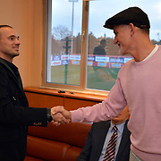 Inter Milan Ex Dutch midfielder, Turkish soccer club Galatasaray new player Wesley Sneijder, his arrival at the Florya Metin Oktay Sports Center in Istanbul Turkey on Monday 21 January 2013. Galatasaray's trainer Taffarel with Wesley Sneijder. Galatasaray, Inter Milan Dutch midfielder played with a three and a half year deal gave Wesley Sneijder. Photo by TURKPIX
