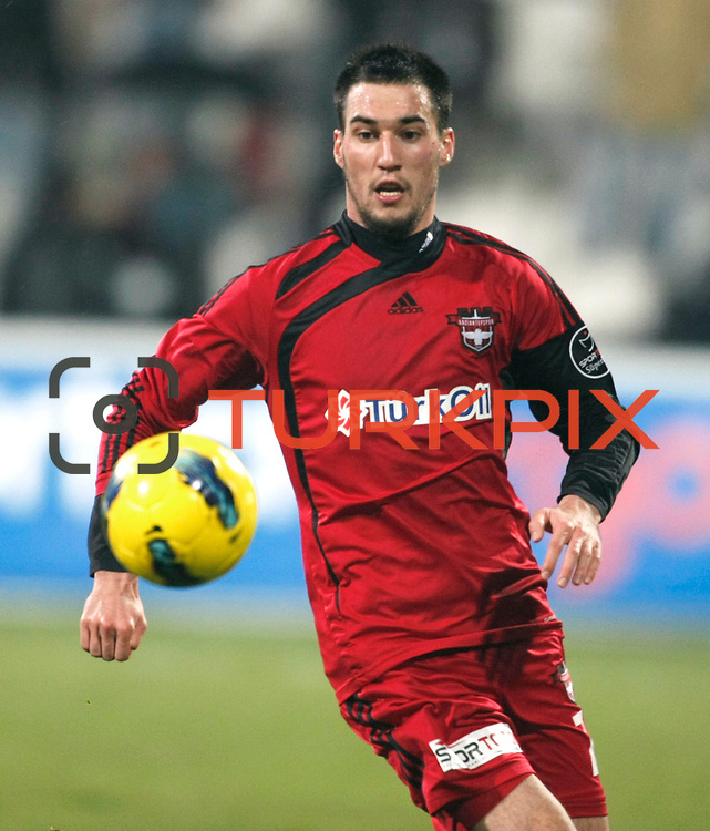 Gaziantepspor's Ivelin Popov during their Turkish superleague soccer match Besiktas between Gaziantepspor at BJK Inonu Stadium in Istanbul Turkey on Tuesday, 05 January 2012. Photo by TURKPIX