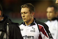 Photo: Rich Eaton.<br /> <br /> Leicester Tigers v Newcastle Falcons. Guinness Premiership. 27/01/2007. A dejected looking Jonny Wilkinson of Newcastle Falcons leaves the field after a heavy defeat at Leicester