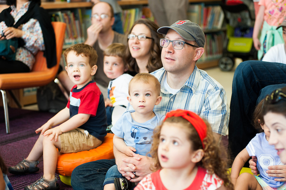 An audience at the Boston Book Festival in the Boston Public Library Central Branch's Children's Library.