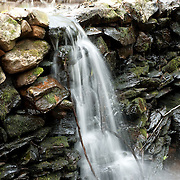Old mill pond and waterfall at the Massachusetts Audubon Broadmor Wildlife Sanctuary, South Natick, Massachusetts