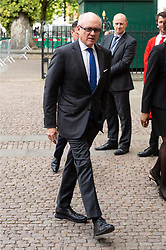 © Licensed to London News Pictures. 15/06/2018. London, UK.  Robert Wood Johnson the Ambassador of the United States of America to the United Kingdom of Great Britain and Northern Ireland attends the memorial service for Professor Stephen Hawkin at Westminister Abbey. Photo credit: Ray Tang/LNP