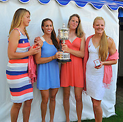 Henley on Thames. United Kingdom. GBR W4X.  Polly SWANN, Vicky MAYER-LAKER, Frances HOUGHTON and Helen GLOVER. with the Princess Grace Challenge Cup.  2013 Henley Royal Regatta, Henley Reach. 17:05:41  Sunday  07/07/2013  [Mandatory Credit; Intersport Images]