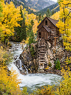 The historic Crystal Mill in the town of Crystal, Colorado.