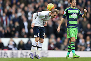 Christian Eriksen of Tottenham Hotspur in action. Barclays Premier league match, Tottenham Hotspur v Swansea city at White Hart Lane in London on Sunday 28th February 2016.<br /> pic by John Patrick Fletcher, Andrew Orchard sports photography.