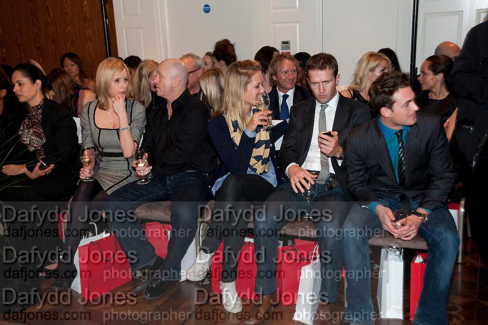 RENEE O'BRIEN; ROSS KEMP; CHARLOTTE TAYLOR; BAND MEMBERS OF BLAKE; HUMPHREY BERNEY; JULES KNIGHT;  , Stephane St. Jaymes Spring Summer 2011 fashion show.<br /> The Westbury Mayfair, Bond Street, London,DO NOT ARCHIVE-© Copyright Photograph by Dafydd Jones. 248 Clapham Rd. London SW9 0PZ. Tel 0207 820 0771. www.dafjones.com.