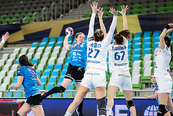 Harma Anna Cornelia van Kreij of Krim Mercator during 1st Leg handball match between RK Krim Mercator (SLO) and CSKA Moscow (RUS) in the Round of 16 of Delo EHF Women's Champions League 2020/21, on March 6, 2021 in Arena Stozice, Ljubljana, Slovenia. Photo by Vid Ponikvar / Sportida