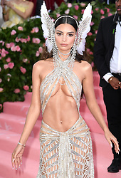 "Emily Ratajkowski at the 2019 Costume Institute Benefit Gala celebrating the opening of ""Camp: Notes on Fashion"".<br />