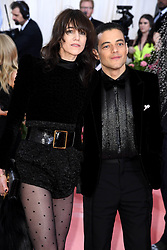 """Charlotte Gainsbourg and Rami Malek at the 2019 Costume Institute Benefit Gala celebrating the opening of """"Camp: Notes on Fashion"""".<br />(The Metropolitan Museum of Art, NYC)"""