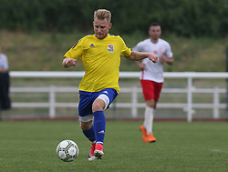 May 31, 2018 - London, England, United Kingdom - Gergo Gyurki of Karpatalya.during Conifa Paddy Power World Football Cup 2018  Group B match between Northern Cyprus against Karpatalya at Queen Elizabeth II Stadium (Enfield Town FC), London, on 31 May 2018  (Credit Image: © Kieran Galvin/NurPhoto via ZUMA Press)