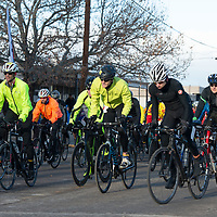 Racers move rapidly at the starting line of the 36th annual Mt. Taylor Quadrathlon in Grants Saturday.