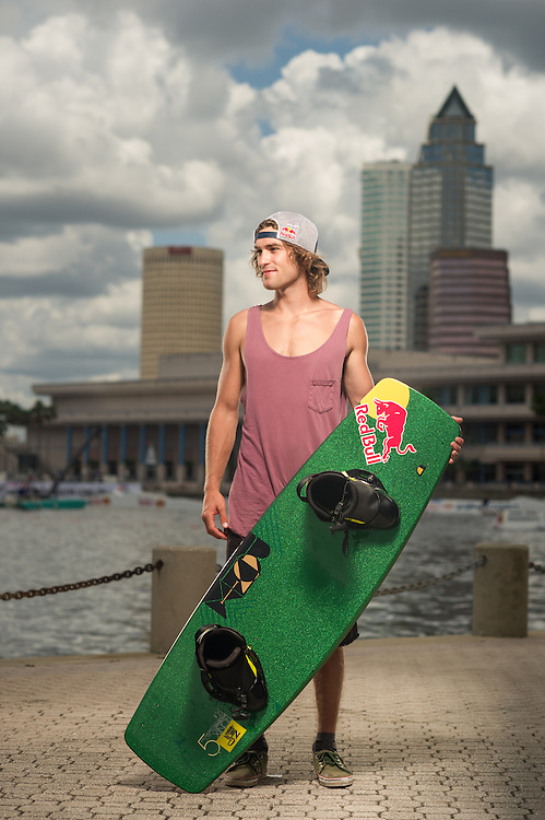 Dominik Hernler Poses for a Portrait at RedBull Wake Open in Tampa, Florida on July 13th, 2012.