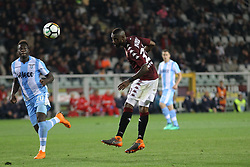 April 29, 2018 - Turin, Piedmont, Italy - Nicolas Nkoulou (Torino FC) in action during the Serie A football match between Torino FC and SS Lazio at Olympic Grande Torino Stadium on April 29, 2018 in Turin, Italy..Final results is 0-1. (Credit Image: © Massimiliano Ferraro/NurPhoto via ZUMA Press)