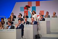 DEU, Deutschland, Germany, Berlin, 07.12.2017: Die scheidende SPD-Generalsekretär Dr. Katarina Barley beim Bundesparteitag der SPD im CityCube.