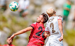 16.07.2017, Sportplatz Buergerau, Saalfelden, AUT, Testspiel, FC St. Pauli vs FC Wil 1900, im Bild Thomas Schiavano (FC Wil 1900), Clemens Schoppenhauer (FC St. Pauli) // during the Friendly Football Match between FC St. Pauli and FC Wil 1900 at the Stadion Buergerau, Saalfelden, Austria on 2017/07/16. EXPA Pictures © 2017, PhotoCredit: EXPA/ JFK
