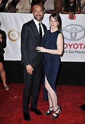 Keegan-Michael Key (L) and Elisa Pugliese at The 49th NAACP Image Awards held at the Pasadena Civic Auditorium on January 15, 2018 in Pasadena, CA, USA (Photo by Sthanlee B. Mirador/Sipa USA)