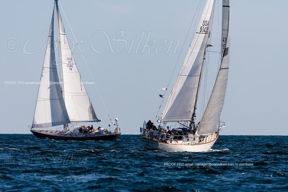 Shearwater sailing in the Newport Bermuda Race.