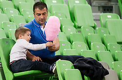 Spectators during basketball match between KK Krka and KK Union Olimpija in 4th Final match of Telemach League 2012/13 on May 20, 2013 in Arena Stozice, Ljubljana, Slovenia. (Photo By Vid Ponikvar / Sportida)