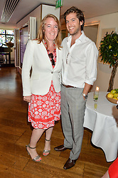 ALVIN CAUDWELL and JACK FREUD at a party hosted by Nancy Dell'Olio to celebrate the launch of Limonbello held at The Club at The Ivy, 9 West Street, London on 20th July 2016.
