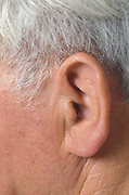 ear of an older man