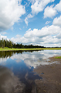 Whirlpool Lake in Riding Mountain National Park, Manitoba, on a bright summer afternoon