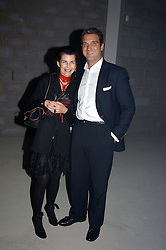NATHALIE HAMBRO and EDMUND BURKE at an exhibition of work by Rolf Sachs - a unique world-renowned contemporary furniture designer, held in association with the Louisa Guinness Gallery and held at 250 Brompron Road, London on 6th October 2004.<br />