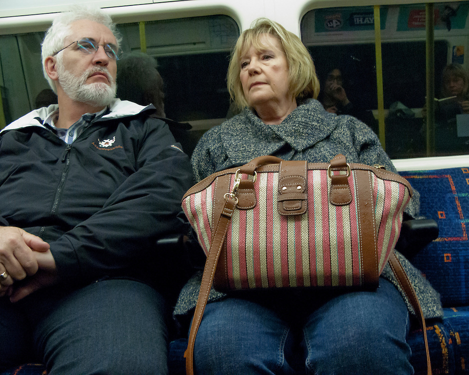 Portrait of Londoners on the London Underground Network