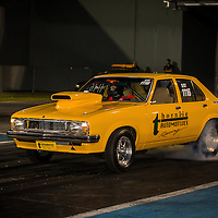 Ashleigh Wroe (1116) warming the tyres on her Holden Torana at the Perth Motorplex.