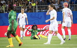 6?10??????????????Gabrielle Aboudi Onguene () of Cameroon????????..???????????????2019?6?11?.    ?????????——E??????????????.    ?????????????2019??????????E???????????1?0??????.    ?????????..(SP)FRANCE-RENNES-2019 FIFA WOMEN'S WORLD CUP-GROUP E-CANADA VS CAMEROON..(190611) -- MONTPELLIER, June 11, 2019  the group E match between Canada and Cameroon at the 2019 FIFA Women's World Cup in Montpellier, France on June 10, 2019. Canada won 1-0. (Credit Image: © Xinhua via ZUMA Wire)