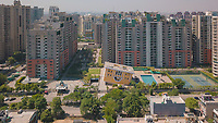 Aerial view of Caracalla club in Orange county in Ghaziabad city in Delhi ncr, India.