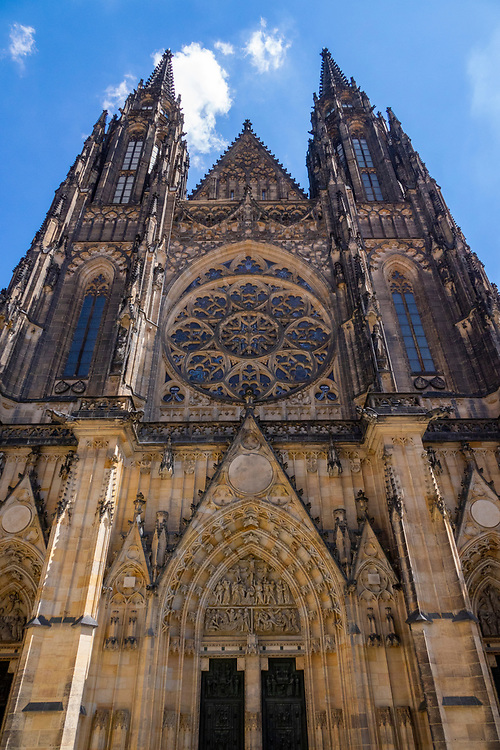 St. Vitus Cathedral in the Prague Castle complex.<br /> The Metropolitan Cathedral of Saints Vitus, Wenceslaus and Adalbert is a Roman Catholic metropolitan cathedral in Prague