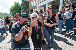 Legends Ride auction in Deadwood during the annual Sturgis Black Hills Motorcycle Rally.  SD, USA.  August 8, 2016.  Photography ©2016 Michael Lichter.