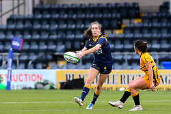 Abi Kershaw of Worcester Warriors Women passes - Mandatory by-line: Nick Browning/JMP - 24/10/2020 - RUGBY - Sixways Stadium - Worcester, England - Worcester Warriors Women v Wasps FC Ladies - Allianz Premier 15s