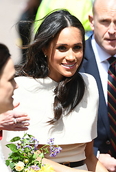 The Duchess of Sussex meets the corwd at Chester Town Hall