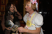 Lucy Ferry and Grayson Perry, Grayson Perry by Wendy Jones launch party. Leighton House. Holland Park. London. 17 January 2006. January 2006.  ONE TIME USE ONLY - DO NOT ARCHIVE  © Copyright Photograph by Dafydd Jones 66 Stockwell Park Rd. London SW9 0DA Tel 020 7733 0108 www.dafjones.com