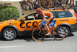 12.07.2015, Bregenz, AUT, Österreich Radrundfahrt, 8. Etappe, von Innsbruck nach Bregenz, im Bild Jan Hirt (CZE, 3. Platz Gesamtwertung) am Team Auto // 3rd place overall Jan Hirt of Czech Republik during the Tour of Austria, 8th Stage, from Innsbruck to Bregenz, Bregenz, Austria on 2015/07/12. EXPA Pictures © 2015, PhotoCredit: EXPA/ Reinhard Eisenbauer