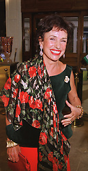 LADY POWELL at a reception in London on 20th May 1999.MSI 20