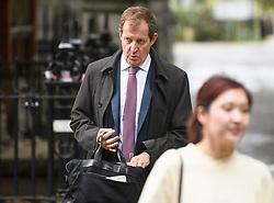 © Licensed to London News Pictures. 20/09/2018. London, UK.  Former Labour spin doctor ALASTAIR CAMPBELL is seen in Westminster on September 20th, 2018. Photo credit: Ben Cawthra/LNP
