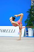 "Arbolishvili Ketevan during roperoutine at the International Tournament of rhythmic gymnastics ""Città di Pesaro"", 01 April, 2016. Ketevan is an Azerbaijan individualistic gymnast, born in Tblisi, 2003.<br />