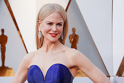 Nicole Kidman walking on the red carpet during the 90th Academy Awards ceremony, presented by the Academy of Motion Picture Arts and Sciences, held at the Dolby Theatre in Hollywood, California on March 4, 2018. (Photo by Anthony Behar/Sipa USA)