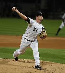August 21, 2017 - Chicago, IL, USA - Chicago White Sox starting pitcher Carson Fulmer (51) delivers a pitch against the Minnesota Twins during the first inning of game two of their double-header on Monday, Aug. 21, 2017 at Guaranteed Rate Field in Chicago, Ill. (Credit Image: © Nuccio Dinuzzo/TNS via ZUMA Wire)
