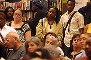 """Audience at the reading of ' Letters from Black America """" A Dramatic Reading with Editor Pamela Newkirk and actors Ruby Dee and Anthony Chisholm held at Barnes & Noble at 82nd Street on July 15, 2009 in New York City"""