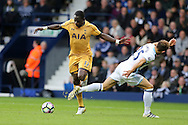 Moussa Sissoko of Tottenham Hotspur (l) looks to go past Craig Dawson of West Brom. Premier league match, West Bromwich Albion v Tottenham Hotspur at the Hawthorns stadium in West Bromwich, Midlands on Saturday 15th October 2016. pic by Andrew Orchard, Andrew Orchard sports photography.
