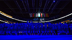 Team Kazakhstan at ceremony after ice hockey match between Kazakhstan and Hungary at IIHF World Championship DIV. I Group A Kazakhstan 2019, on May 5, 2019 in Barys Arena, Nur-Sultan, Kazakhstan. Photo by Matic Klansek Velej / Sportida
