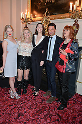 Left to right, HANNAH ARTERTON, SALLY-ANNE HEAP, GEMMA ARTERON, DOMINIC COOPER and JULIE HERON at the Audi Ballet Evening at The Royal Opera House, Covent Garden, London on 23rd April 2015.
