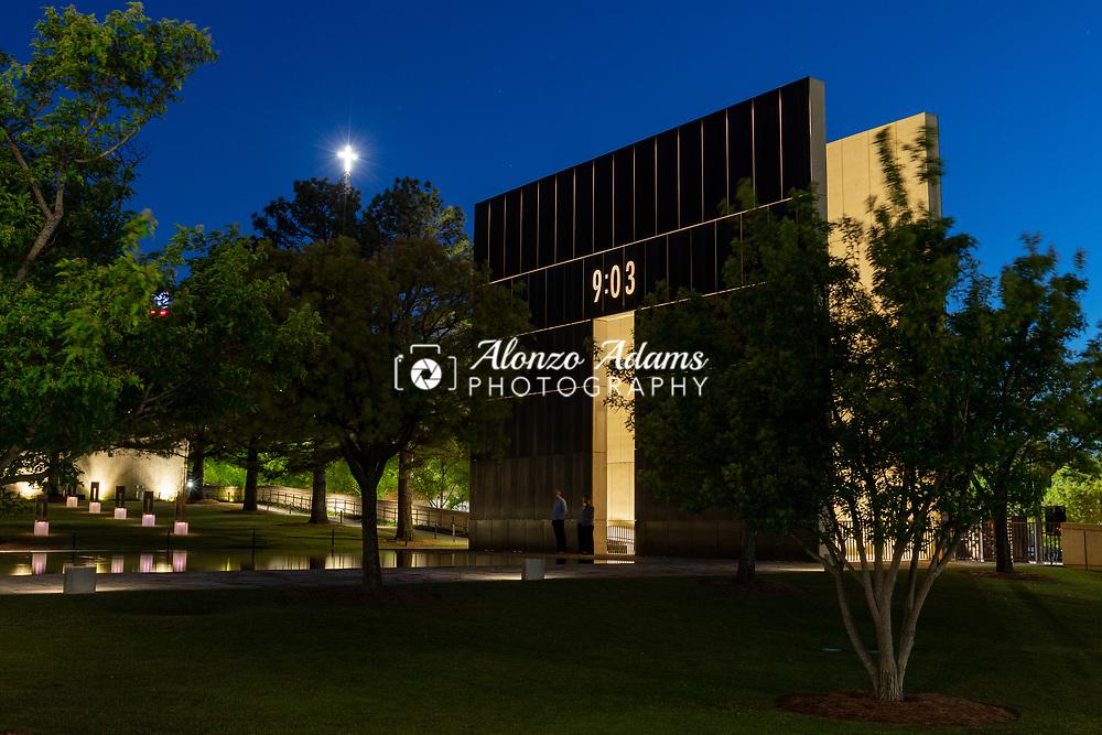 The Oklahoma City National Memorial on Thursday, April 25, 2019. Photo copyright © 2019 Alonzo J. Adams.